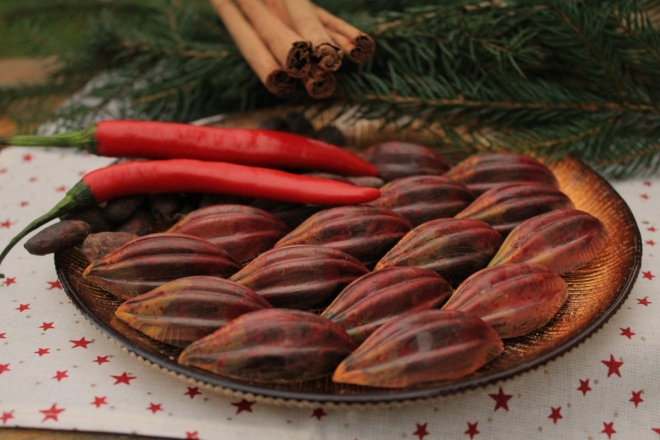 Aztécká pralinka s chilli a kakaovými boby