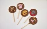 Čokoládová lízátka z mléčné čokolády Zvířátka